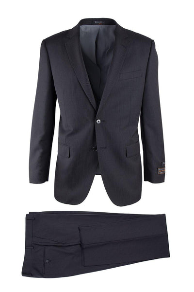 Brite Creations Novello Black Tone on Tone, Modern Fit, Pure Wool Suit by Tiglio Luxe