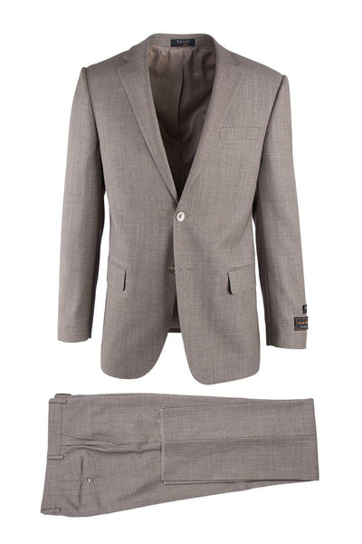 Brite Creations Novello Tan Birdseye, Modern Fit, Pure Wool Suit by Tiglio Luxe TIG101