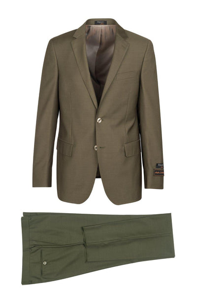 Brite Creations Novello Olive, Modern Fit, Pure Wool Suit by Tiglio Luxe - Olive