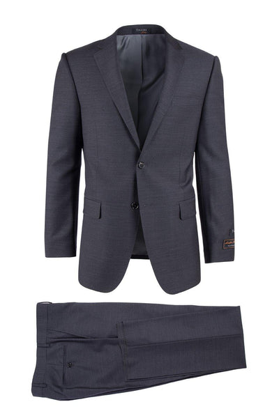 Brite Creations Novello Charcoal Gray, Modern Fit, Pure Wool Suit by Tiglio Luxe TIG10