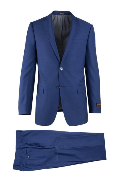Brite Creations Novello F.Blue, Modern Fit, Pure Wool Suit by Tiglio Luxe