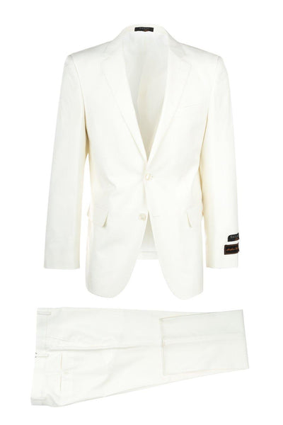 Brite Creations Novello Off-white, Modern Fit, Pure Wool Suit by Tiglio Luxe OFFWHITE