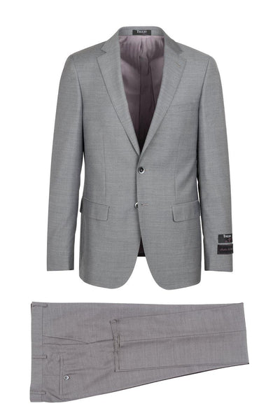 Brite Creations Porto Heather gray, Slim Fit, Pure Wool Suit by Tiglio Luxe - E09063/2