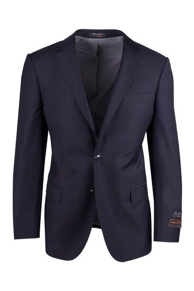 Brite Creations Novello Navy, Pure Wool, Modern Fit Blazer by Tiglio Luxe TIG1002