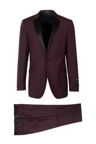 Brite Creations Sienna Slim Fit Tuxedo by Tiglio Luxe Burgundy