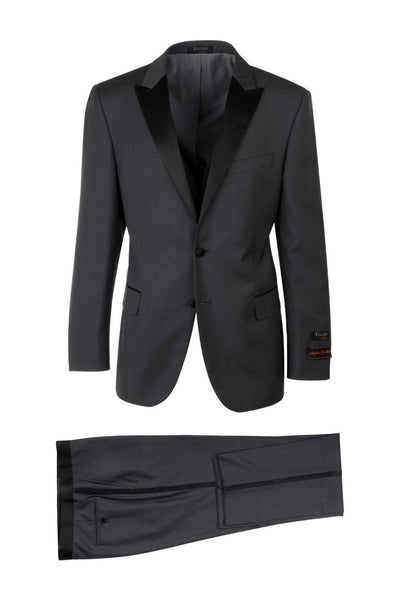 Brite Creations Tufo Charcoal Modern Fit Tuxedo by Tiglio Luxe TIG1001