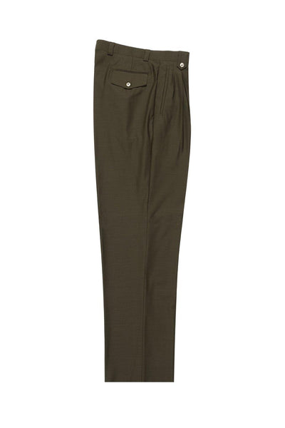 Brite Creations Olive Wide Leg Wool Dress Pant 2586/2576 by Tiglio Luxe