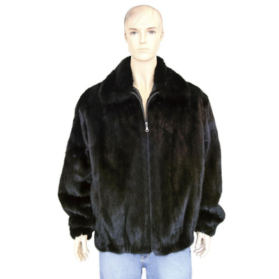 Full Skin Mink Jacket - Black