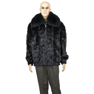 Diamond Mink Jacket - Black