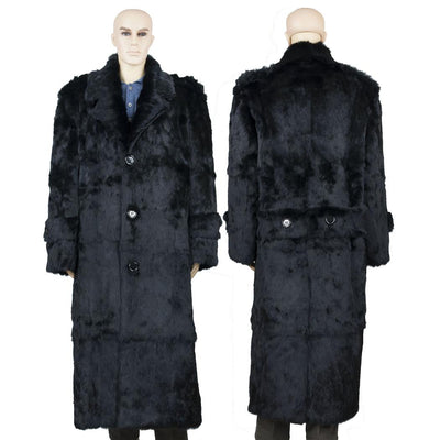 Full Skin Rabbit Full Length Coat - Black