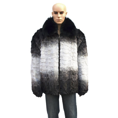 Diamond Mink Jacket - White
