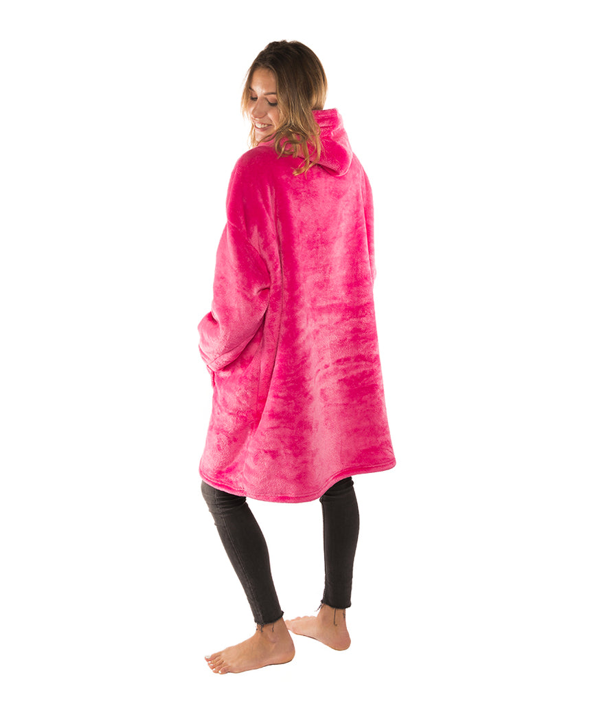 Sweat Plaid rose unisexe oversize SweetPlaid