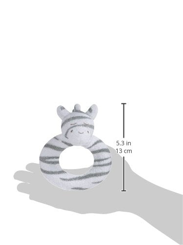 Angel Dear Ring Rattle, Grey Zebra