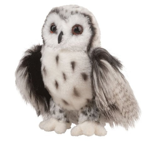 Douglas Cresent Silver Owl Plush Stuffed Animal