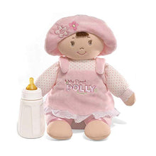 Load image into Gallery viewer, GUND My First Dolly Stuffed Brunette Doll Plush, 13""