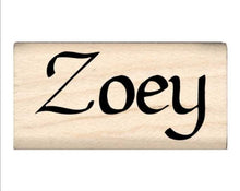 Load image into Gallery viewer, Stamps by Impression Zoey Name Rubber Stamp