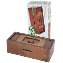 Load image into Gallery viewer, Bits and Pieces - Stash Your Cash - Secret Puzzle Box Brainteaser - Wooden Secret Compartment Brain Game for Adults