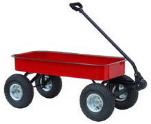 Load image into Gallery viewer, Morgan Cycle Classic Steel Red Wagon with Rubber Air Tires