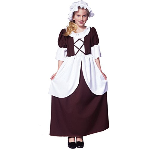 RG Costumes Colonial Girl Costume, Brown/White, Small