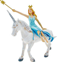 Load image into Gallery viewer, Plastoy Once Upon a Time Blue Fairy on a White Unicorn Figurine
