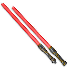 Load image into Gallery viewer, FlashingBlinkyLights Double Sided Swords Sabers with Red LEDs & Sounds