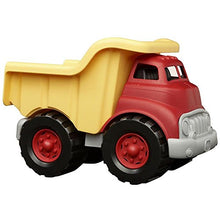 Load image into Gallery viewer, Green Toys Dump Truck in Yellow and Red - BPA Free, Phthalates Free Play Toys for Gross Motor, Fine Motor Skill Development. Pretend Play