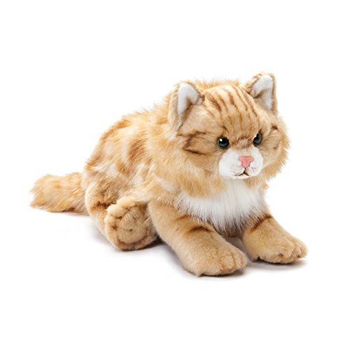 DEMDACO Large Maine Coon Cat Striped Ginger Children's Plush Stuffed Animal Toy