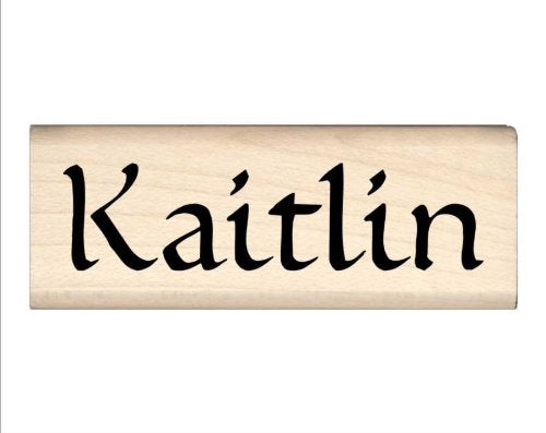 Stamps by Impression Kaitlin Name Rubber Stamp
