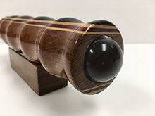 Load image into Gallery viewer, N & J Kaleidoscope Teleidoscope in Teak, 7 Inch Barrel, Laminated Solid Woods Including Padauk, Jalneem and Ebony