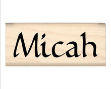 Load image into Gallery viewer, Stamps by Impression Micah Name Rubber Stamp