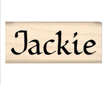 Load image into Gallery viewer, Stamps by Impression Jackie Name Rubber Stamp