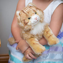 Load image into Gallery viewer, DEMDACO Large Maine Coon Cat Striped Ginger Children's Plush Stuffed Animal Toy