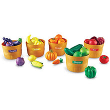 Load image into Gallery viewer, Learning Resources Farmer's Market Color Sorting Set, Homeschool, Play Food, Fruits And Vegetables T