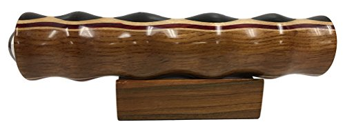 N & J Kaleidoscope Teleidoscope in Teak, 7 Inch Barrel, Laminated Solid Woods Including Padauk, Jalneem and Ebony