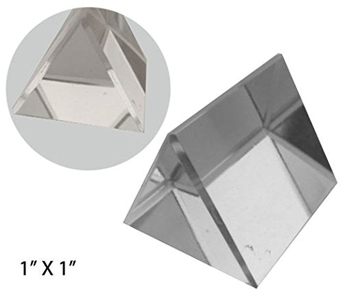 "Hawk 1"" X 1"" Optical Glass Triangular Prism for Educational Or Photography Us."