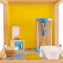 Load image into Gallery viewer, Hape Wooden Doll House Furniture Family Bathroom Set