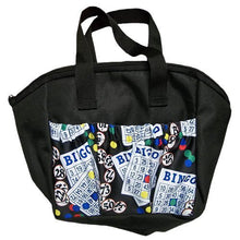 Load image into Gallery viewer, SII New!!! Bingo #1 Dauber 6 Pocket Tote Bag (Black)