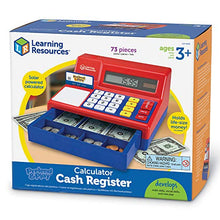 Load image into Gallery viewer, Learning Resources Pretend & Play Calculator Cash Register, Classic Counting Toy, 73 Pieces, Ages 3+