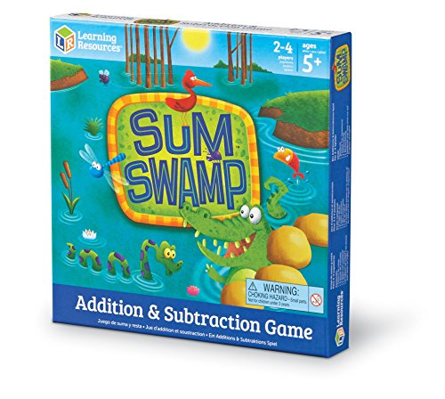 Learning Resources Sum Swamp Game, Homeschool, Addition/Subtraction, Early Math Skills, 8 Pieces, Ag