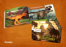 "Load image into Gallery viewer, Prextex Realistic Looking 7"" Dinosaurs Pack of 12 Large Plastic Assorted Dinosaur Figures with Dinosaur Book"
