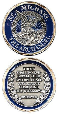 Military Best St. Michael The Archangel Challenge Coin