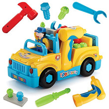 Load image into Gallery viewer, Liberty Imports Multifunctional Take Apart Toy Tool Truck With Electric Drill and Power Tools, Lights and Music, Bump and Go Action