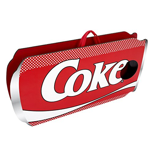 Hey! Play! Coca Cola Cornhole Outdoor Game Set with 8 Bean Bags