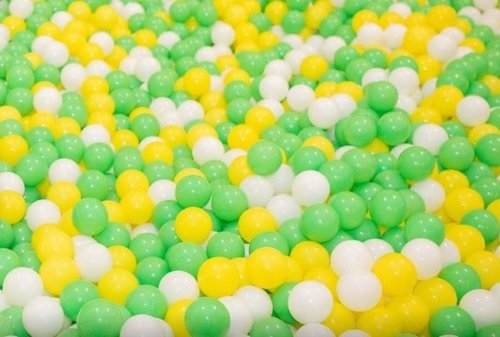 "Pack of 100 Primary-Green Color Jumbo 3"" HD Commercial Grade Ball Pit Balls - Crush-Proof Phthalate Free BPA Free Non-Toxic, Non-Recycled Plastic (Green, 100)"