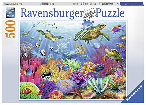 Ravensburger Tropical Waters 500 Piece Jigsaw Puzzle For Adults   Every Piece Is Unique, Softclick T