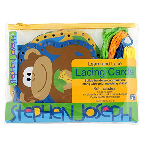 Stephen Joseph Lacing Cards, Zoo