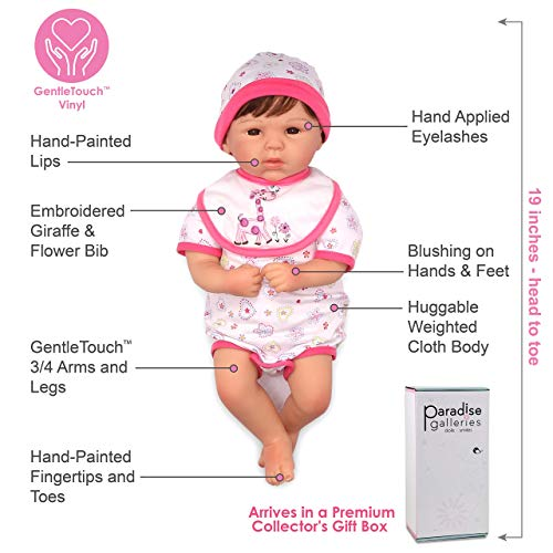 Paradise Galleries Reborn Baby Doll Lifelike Realistic Baby Doll, Tall Dreams Gift Set Ensemble, 19-inch Weighted Baby, for Ages 3+