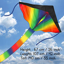 Load image into Gallery viewer, Agreatlife Huge Rainbow Kite For Kids A Kite Easy To Fly For Outdoor Games And Activities | Easy To