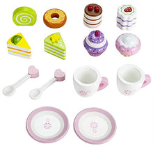Load image into Gallery viewer, Imagination Generation Wood Eats! Tea Time Pastry Tower   Toy Dessert Stand Includes Cake And More