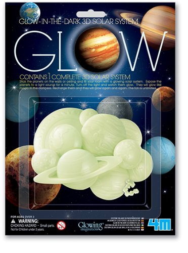 4 M Glow In The Dark 3 D Solar System   Stem Science Planets Starry Night, Wall Stickers Room Dã©Cor